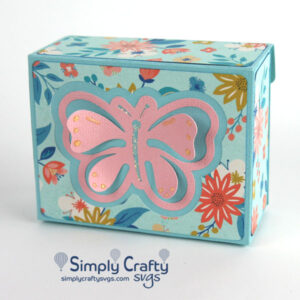 Butterfly Fliptop Box SVG File