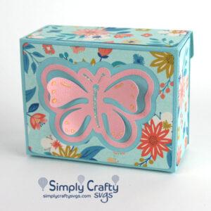 Butterfly Fliptop Box SVG File