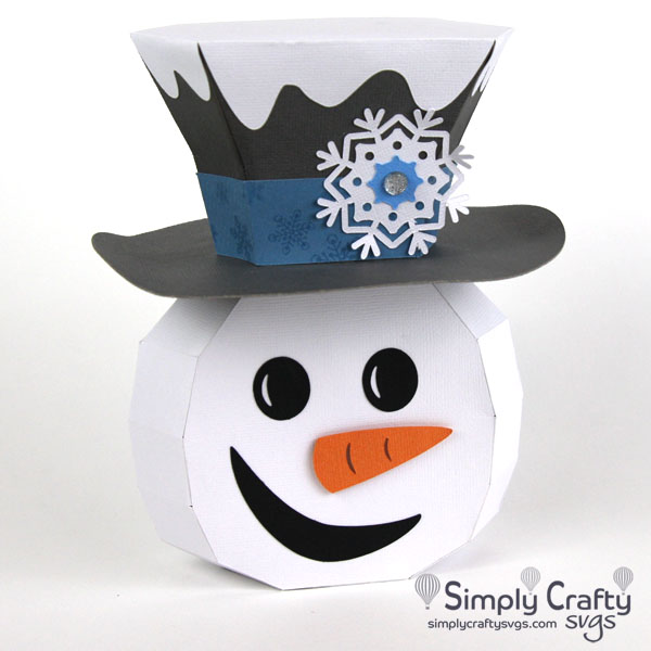 Cheerful Snowman SVG File