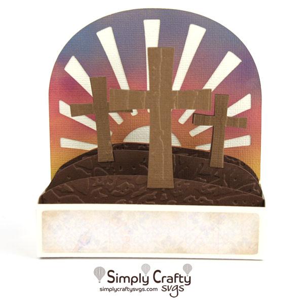 Cross Box Card SVG File