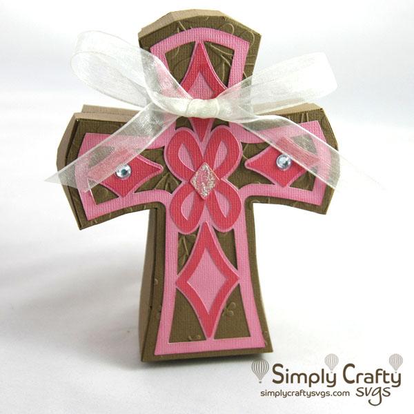 Cross Gift Box SVG File