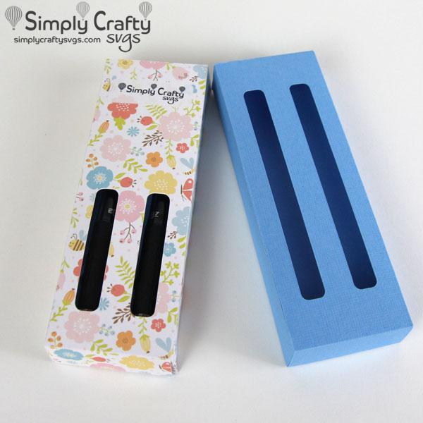 Glitter Pen Boxes Double