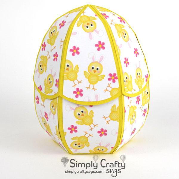 Easter Egg Box SVG File