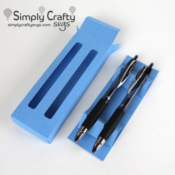 Glitter Pen Box Double SVG File