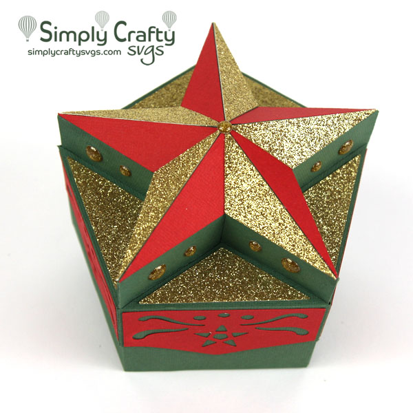 Holiday Star Box SVG File