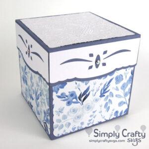 Large Square Gift Box SVG File