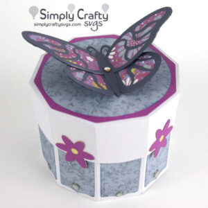 Resting Butterfly Gift Box SVG File