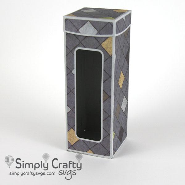 Straight Skinny Tumbler Box SVG File