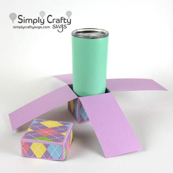 Straight Skinny Tumbler Explosion Box SVG File