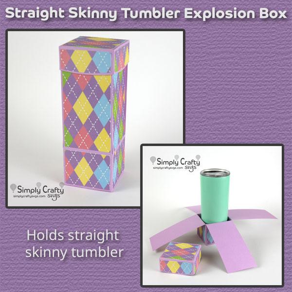 Straight Skinny Tumbler Explosion Box SVG File