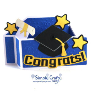 Congrats Graduation Card SVG file