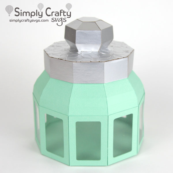 Round Container with Lid SVG File