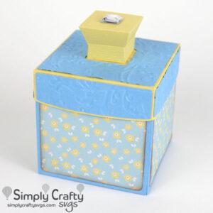 Square Container Box SVG File