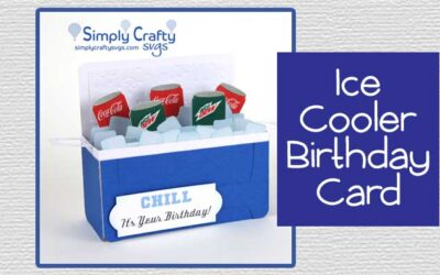 Ice Cooler Birthday Card with Soda Cans