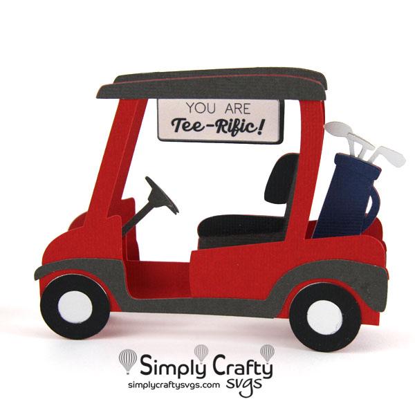 Golf Cart Card SVG File