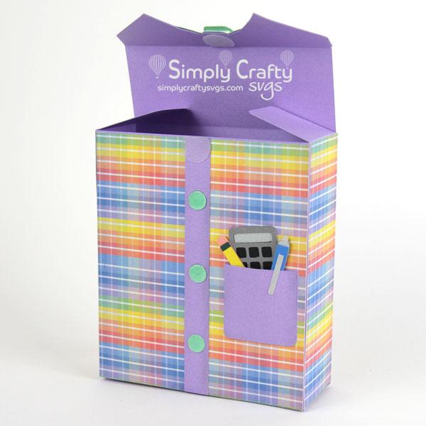 Nerd Shirt Box SVG File