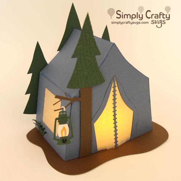 Tent Camping Luminary SVG file
