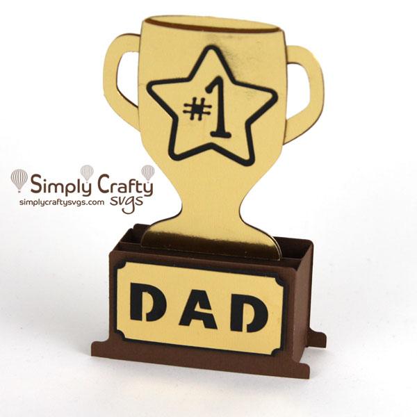 Dad Trophy Card SVG File