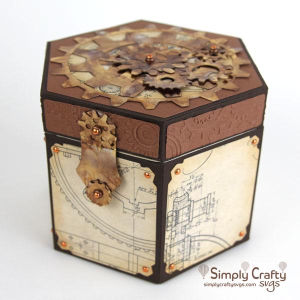 Steampunk Gears Box SVG File