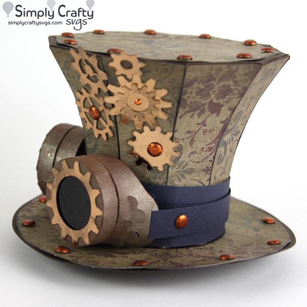 Steampunk Top Hat SVG file