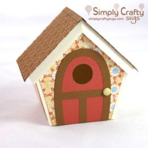 3D Bird House SVG File