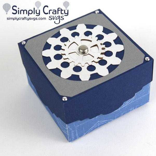 Gear Gift Box SVG File