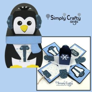 Penguin Explosion Box SVG File