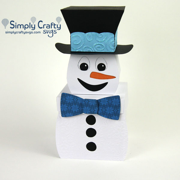 Snowman Explosion Box SVG File