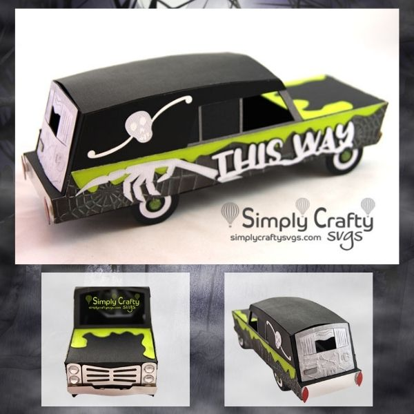 3D Haunted Hearse SVG File