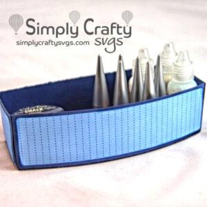 Curvy Tray Organizer SVG File