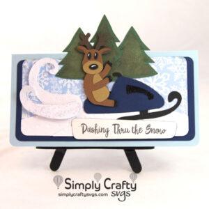 Dashing Reindeer Card SVG File