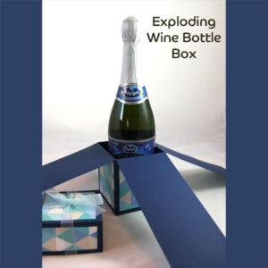 Exploding Wine Bottle Box SVG File
