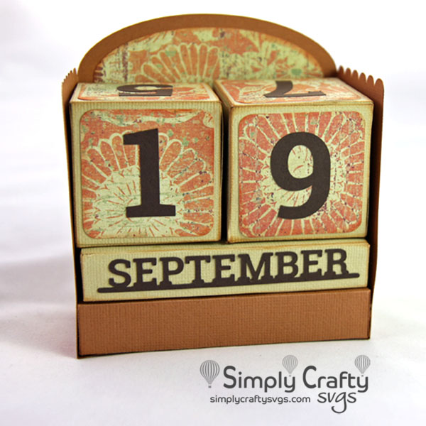 Perpetual Calendar SVG File