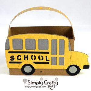 School Bus Bag SVG FIle