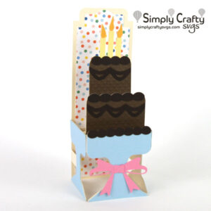 Tiered Cake Box Card SVG File