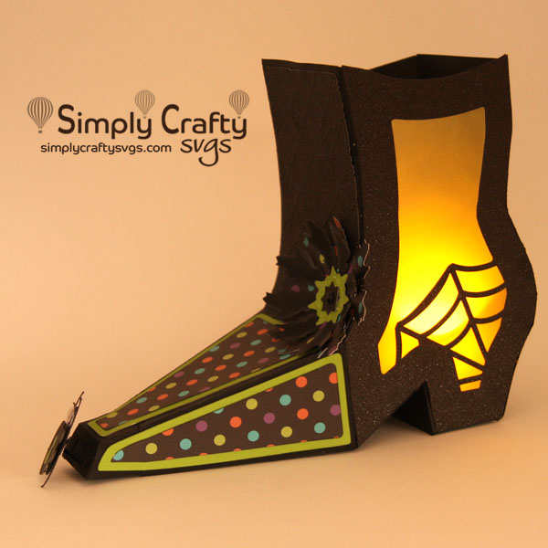 Witch Boot Lantern SVG File