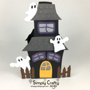 Haunted Ghost House SVG File